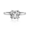 Asscher Diamond Solitaire Ring - SEA Wave Diamonds