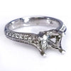 Antique Style Split Shank Diamond Engagement Ring Setting - SEA Wave Diamonds