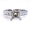 Platinum Diamond Engagement Ring Setting - SEA Wave Diamonds