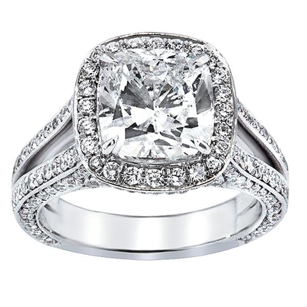 Cushion Cut Diamond Engagement Ring - SEA Wave Diamonds