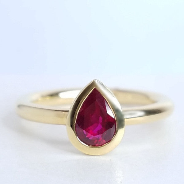Red Hot Ruby Ring - SEA Wave Diamonds