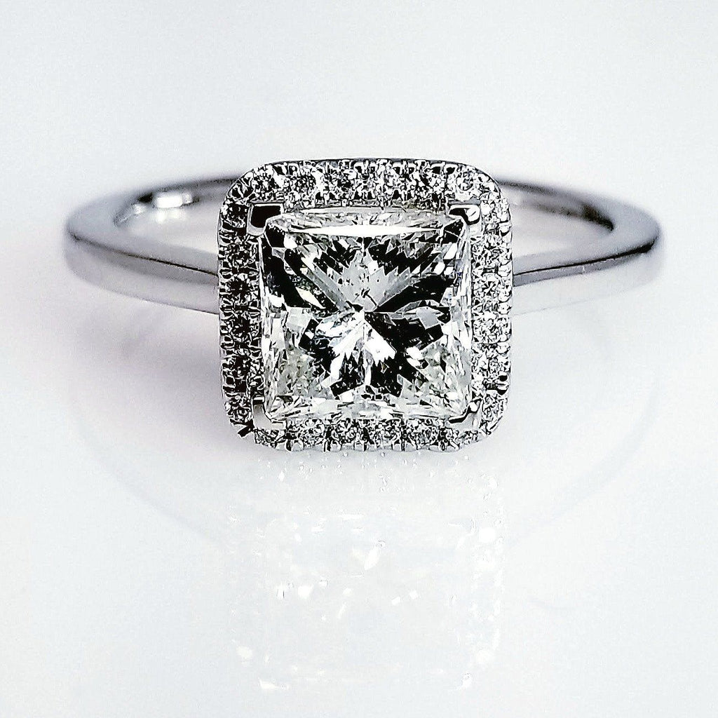 edged ring rings watch youtube diamond round in halo square engagement