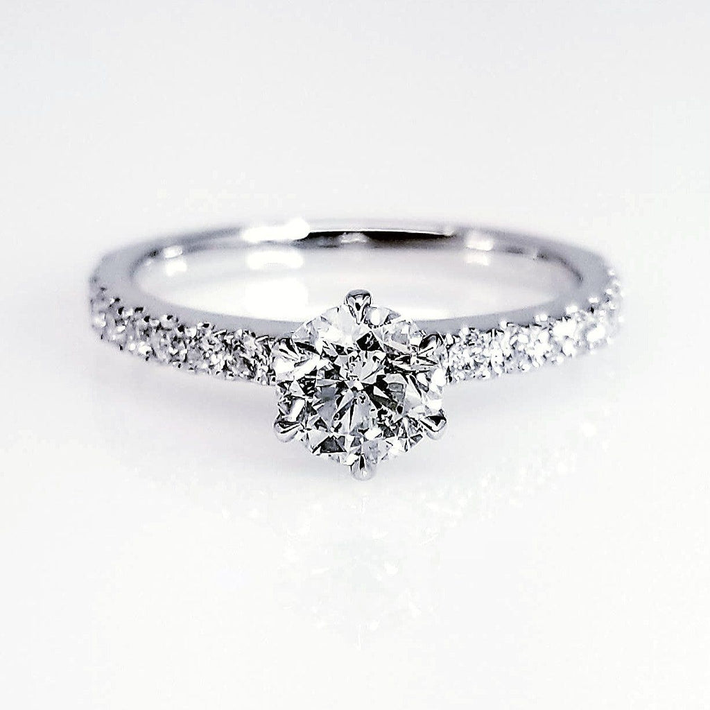 and white halo item rings center stg engagement ring diamond round shank gold pave rnd w