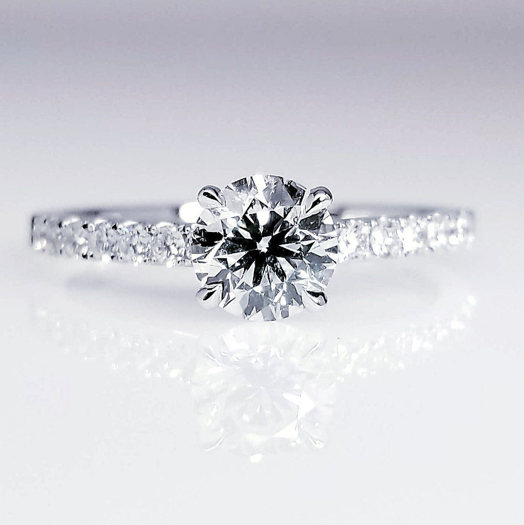 Round Diamond Engagement Ring 0.71ct ENGR03231
