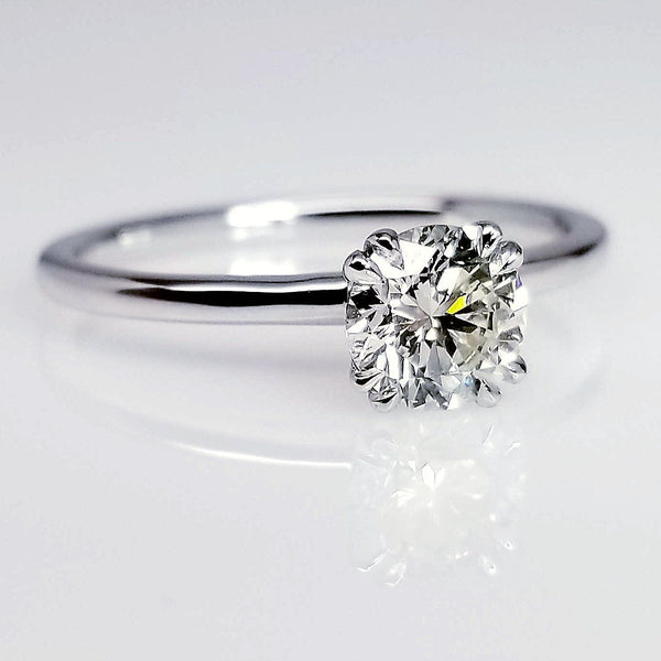 Four Prong Round Diamond Engagement Ring 0.70ct