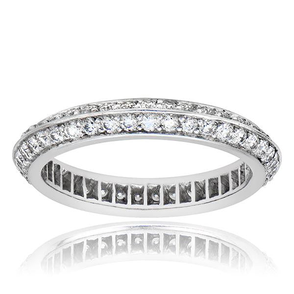 Diamond Eternity Pave Wedding Band In Platinum - SEA Wave Diamonds