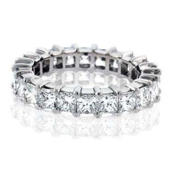 3.80 Carat Diamond Eternity Band in Platinum (3.80 ct. tw.) - SEA Wave Diamonds
