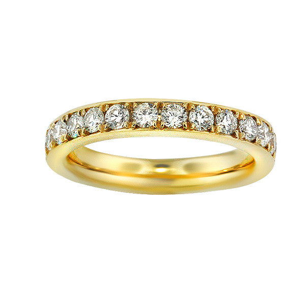 1.45 Carat Diamond Eternity Band in 18K Yellow Gold (1.45ct. tw.) - SEA Wave Diamonds