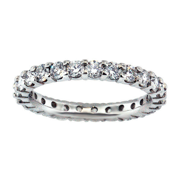 1.16 Carat Diamond Eternity Band in Platinum (1.16 ct. tw.) - SEA Wave Diamonds
