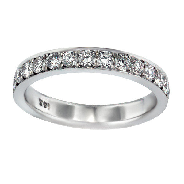 1.19 Carat Diamond Eternity Band in 18K White Gold (1.19 ct. tw.) - SEA Wave Diamonds