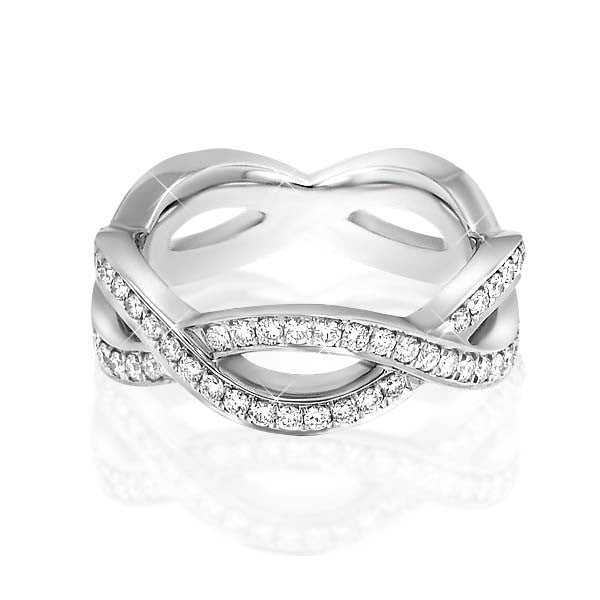 Curvy Diamond Anniversary Ring - SEA Wave Diamonds