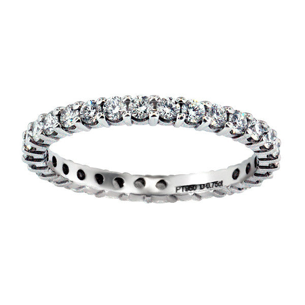 0.75 Carat Diamond Eternity Band in Platinum (0.75 ct. tw.) - SEA Wave Diamonds