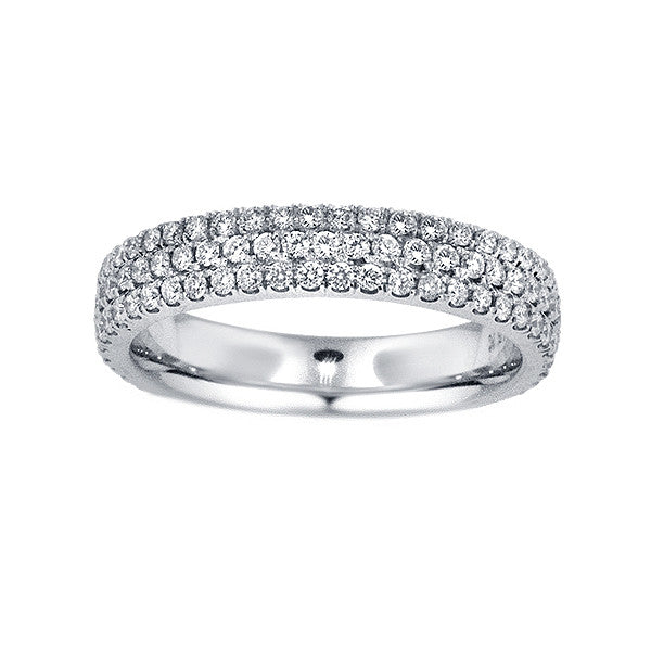 0.96 Carat Diamond Eternity Band in 18K White Gold (0.96 ct. tw.) - SEA Wave Diamonds