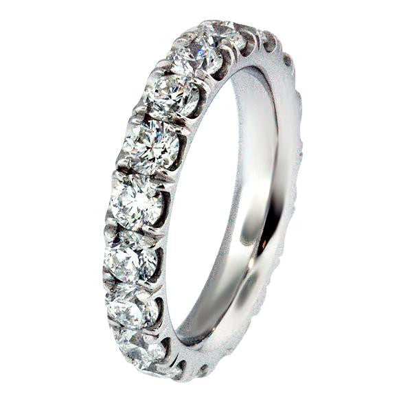 2.61 Carat Diamond Eternity Band in Platinum (2.61 ct. tw.) - SEA Wave Diamonds