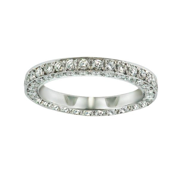 1.08 Carat Diamond Eternity Band in Platinum (1.08 ct. tw.) - SEA Wave Diamonds