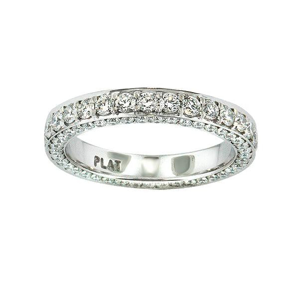 1.75 Carat Diamond Eternity Band in Platinum (1.75 ct. tw.) - SEA Wave Diamonds