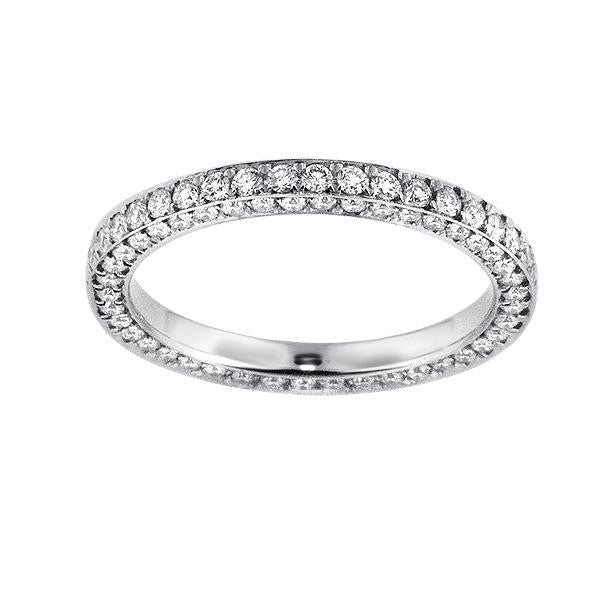 1.87 Carat Diamond Eternity Band in Platinum (1.87 ct. tw.) - SEA Wave Diamonds