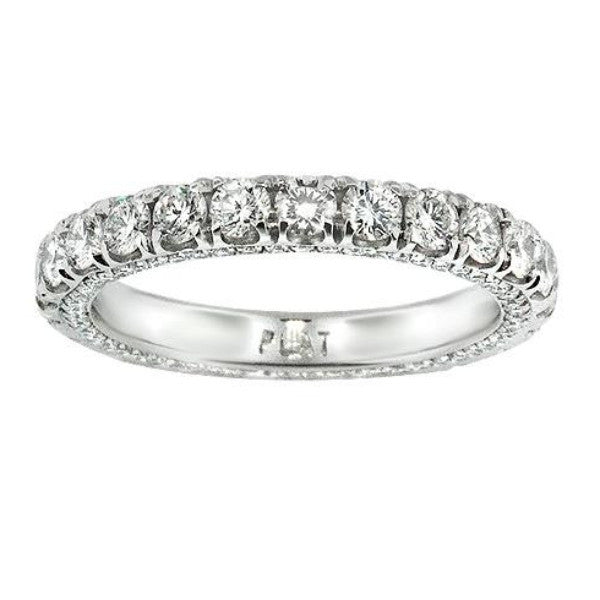 2.15 Carat Diamond Eternity Band in Platinum (2.15 ct. tw.) - SEA Wave Diamonds