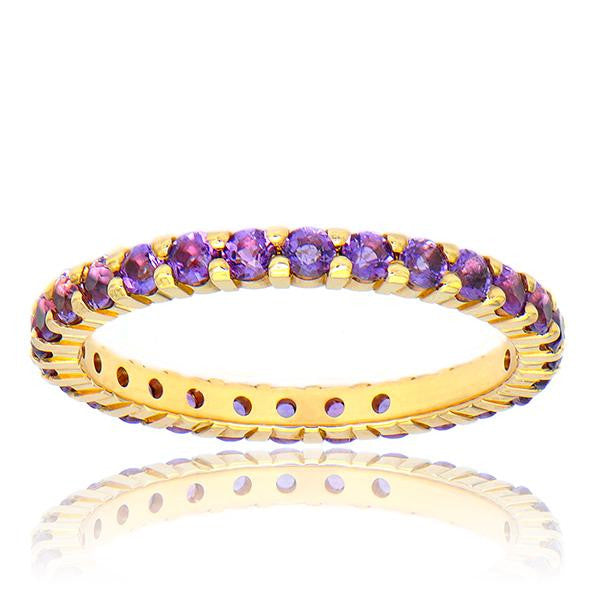 Purple Amethist Eternity Band