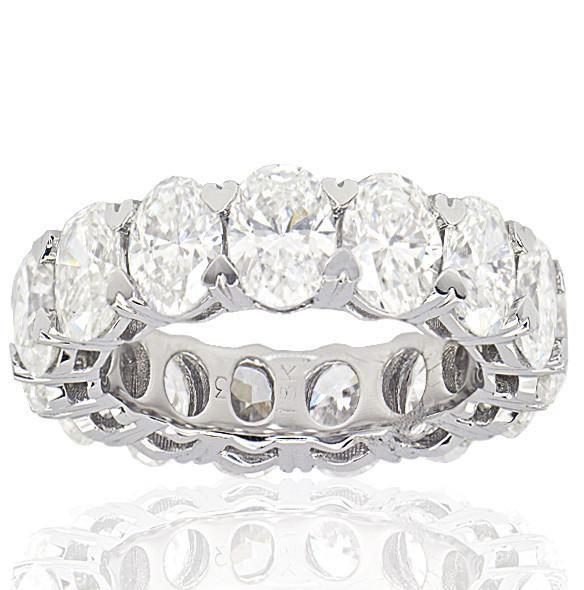 Oval Shape Diamond Eternity Band - SEA Wave Diamonds