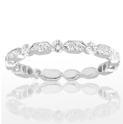 Platinum Eternity Band - SEA Wave Diamonds
