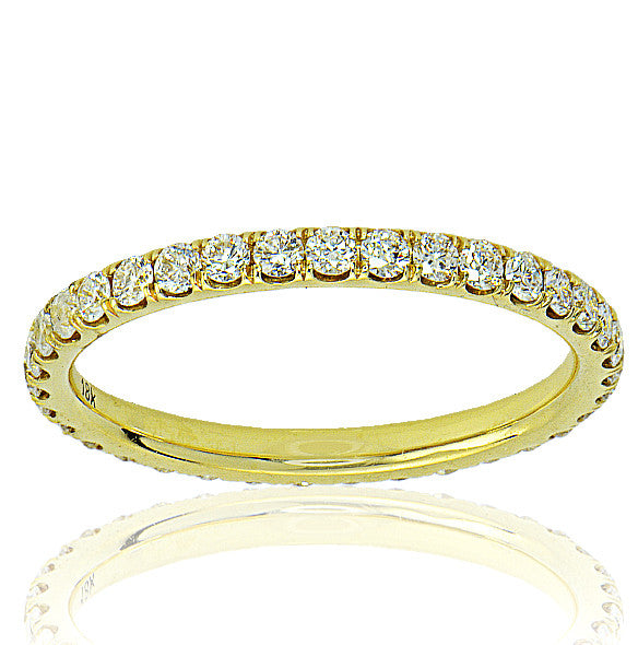 18K Yellow Gold Eternity Band - SEA Wave Diamonds