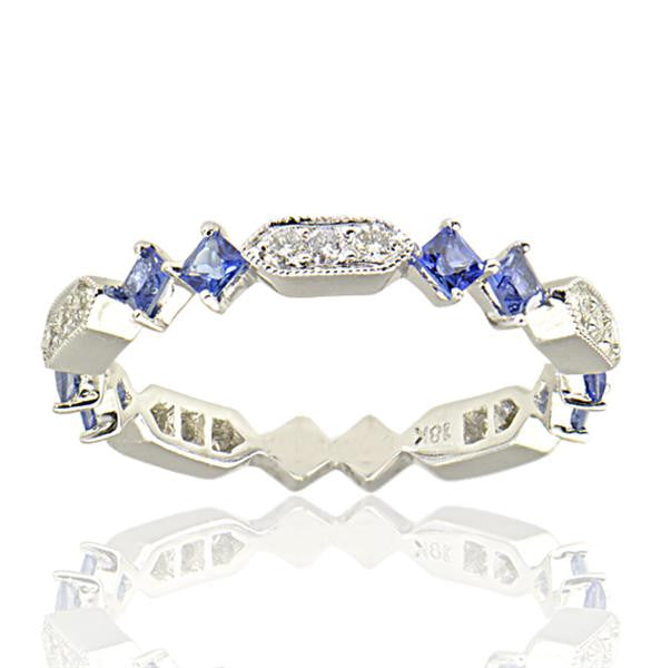 0.60 Carat Sapphire Eternity Band - SEA Wave Diamonds