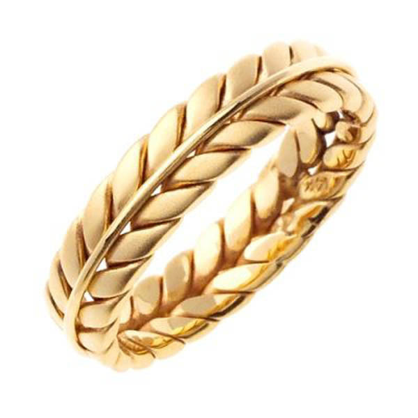 14K Yellow Gold Wedding Bandin 14K Yellow Gold - SEA Wave Diamonds
