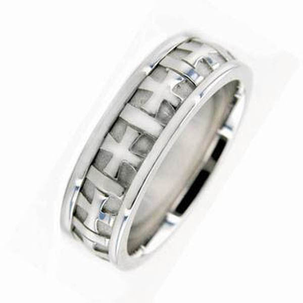 14K White Gold Wedding Band in 14K White Gold