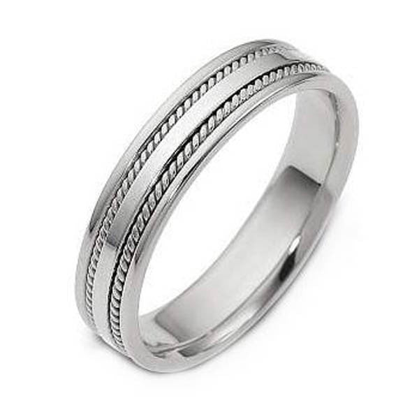 14K White Gold Wedding Bandin 14K White Gold