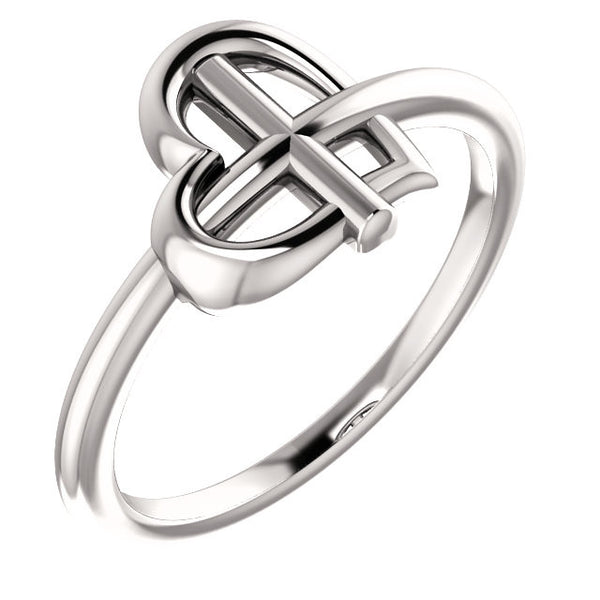 Heart Cross Ring - SEA Wave Diamonds