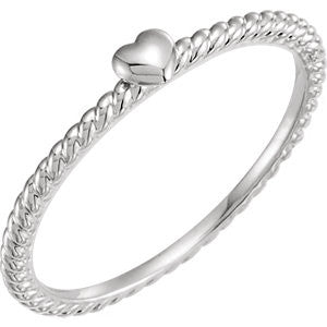 Heart Rope Ring - SEA Wave Diamonds
