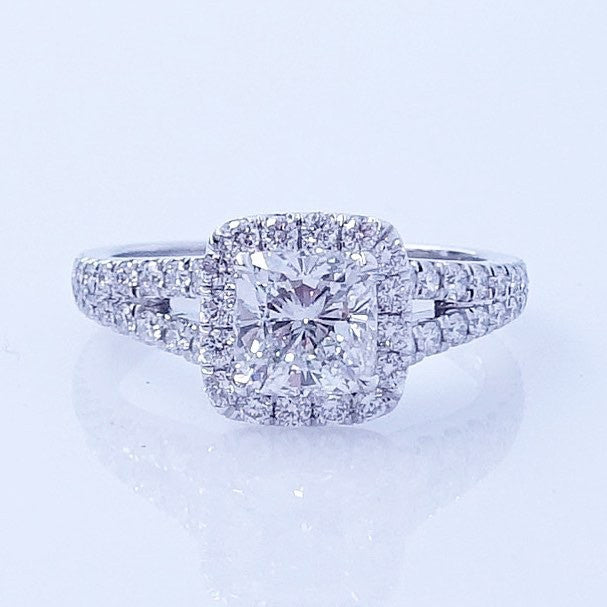 with total engagement split rings rectangular carat gold shank sidestone white twist radiant h ring diamond pid