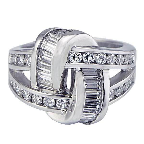 Platinum Channel Set Diamond Band - SEA Wave Diamonds