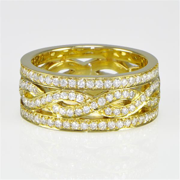 1.46 Carat Band With Round Diamonds  in 18K Yellow Gold (1.46 ct. tw.) - SEA Wave Diamonds