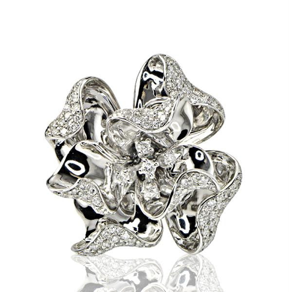 Ladies Flower Ring - SEA Wave Diamonds