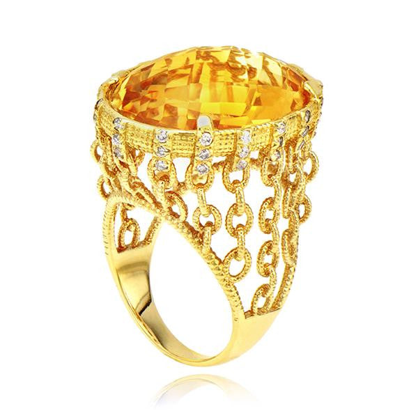 Topaz Chain Fashion Ring