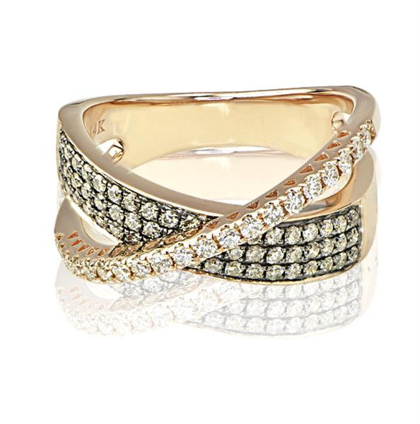 0.68 Ladies Diamond Fashion Ring - SEA Wave Diamonds