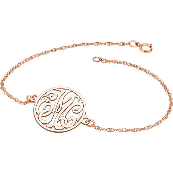 Letter Script Monogram Bracelet - SEA Wave Diamonds