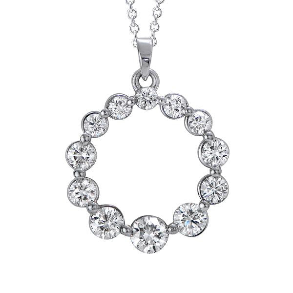 Diamond Circle Of Life Pendant Necklace - SEA Wave Diamonds