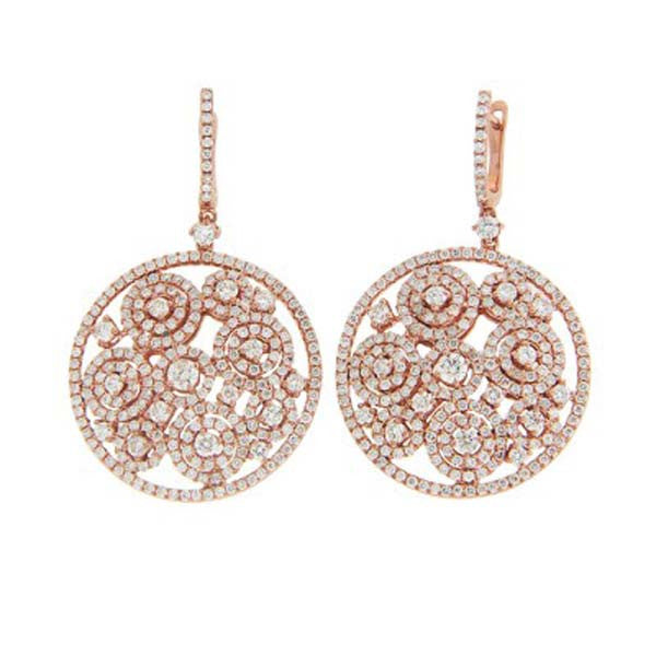 Circle Dangle Earrings - SEA Wave Diamonds