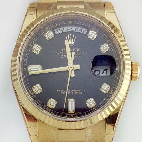 Rolex Day-Date 18K Yellow Gold President REF:118238 - SEA Wave Diamonds