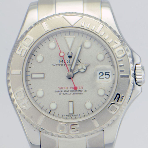Rolex Yacht Master / Steel and Platinum Bezel REF:16622 - SEA Wave Diamonds