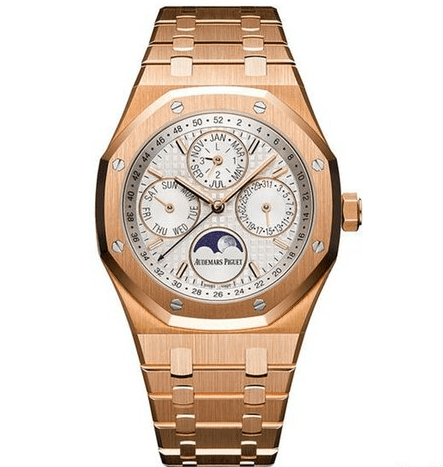 Audemars Piguet Royal Oak Prepetual Calendar Silver Dial 18k - SEA Wave Diamonds