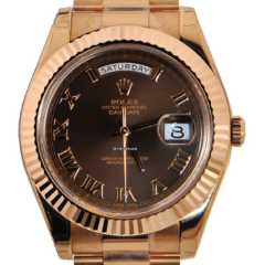 117904b4857 Rolex Day-Date II President Rose Gold - Chocolate Dial 218235 brrp ...