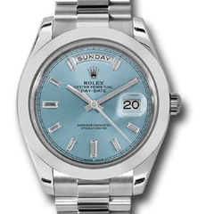 Rolex  Diamond Dial Day-Date 40 Platinum 228206 ibbdp - SEA Wave Diamonds