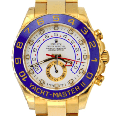 Rolex Yacht Master II 2 18k Yellow Gold Full Package - SEA Wave Diamonds