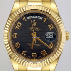 Rolex Oyster Perpetual Day-Date II 18K Yellow Gold/Fluted Bezel