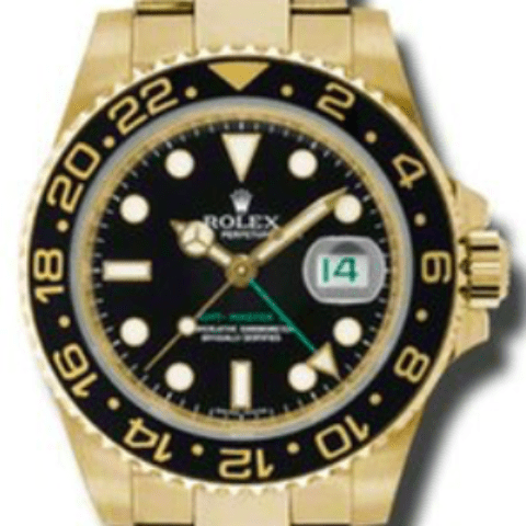Rolex GMT-Master II Yellow Gold - SEA Wave Diamonds