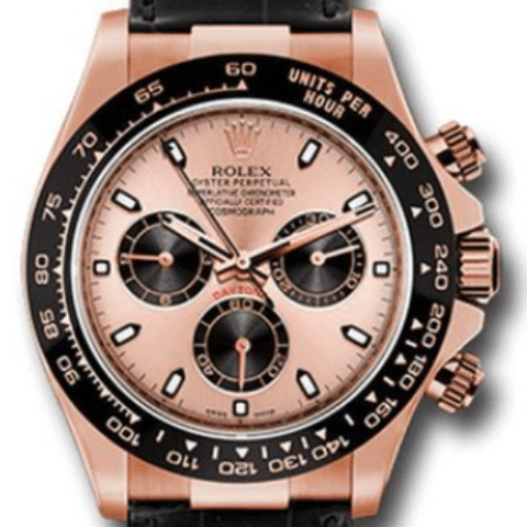 Rolex Daytona Everose Gold Leather Strap 116515LN pbk